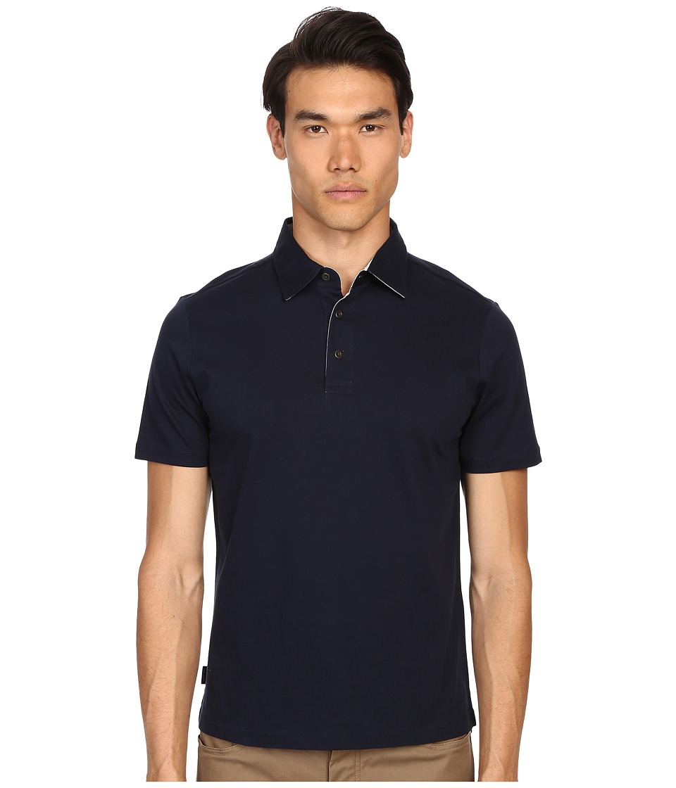 Jack Spade - Keaton Jersey Polo (Navy) Men's Short Sleeve Knit