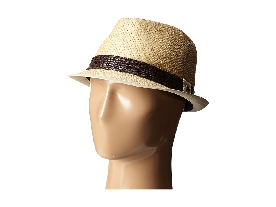 New Era - Straw Fedora (Natural) Fedora Hats