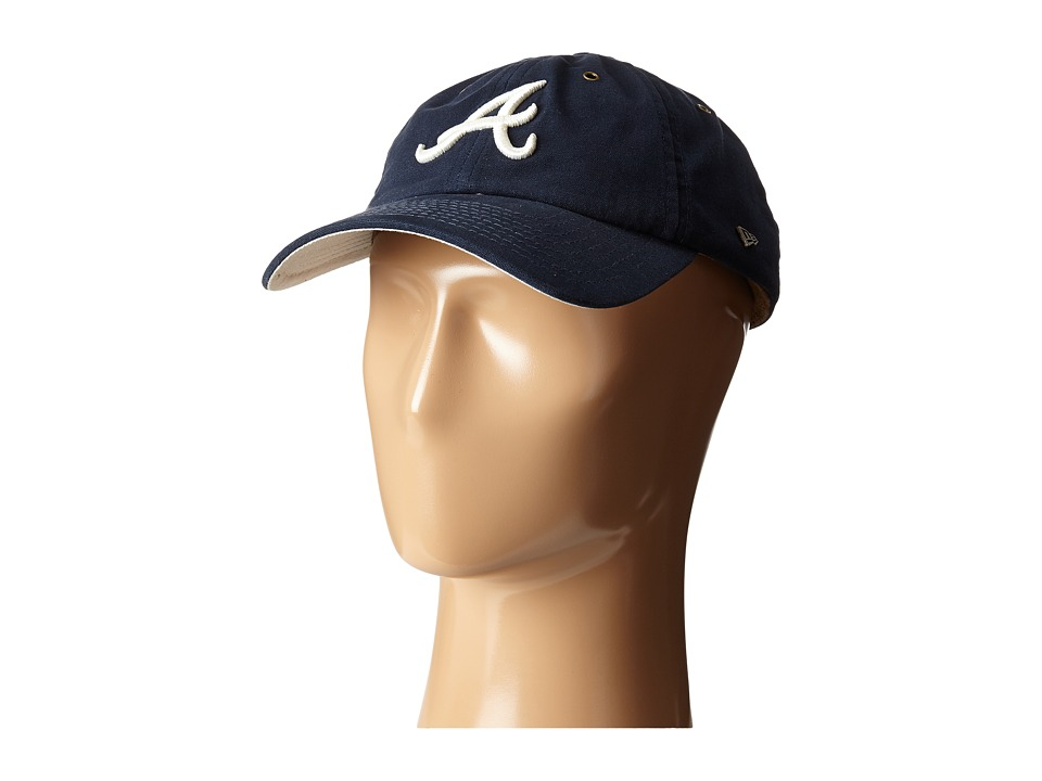 New Era - Washed Canvas 9TWENTY Atlanta Braves (Navy) Caps