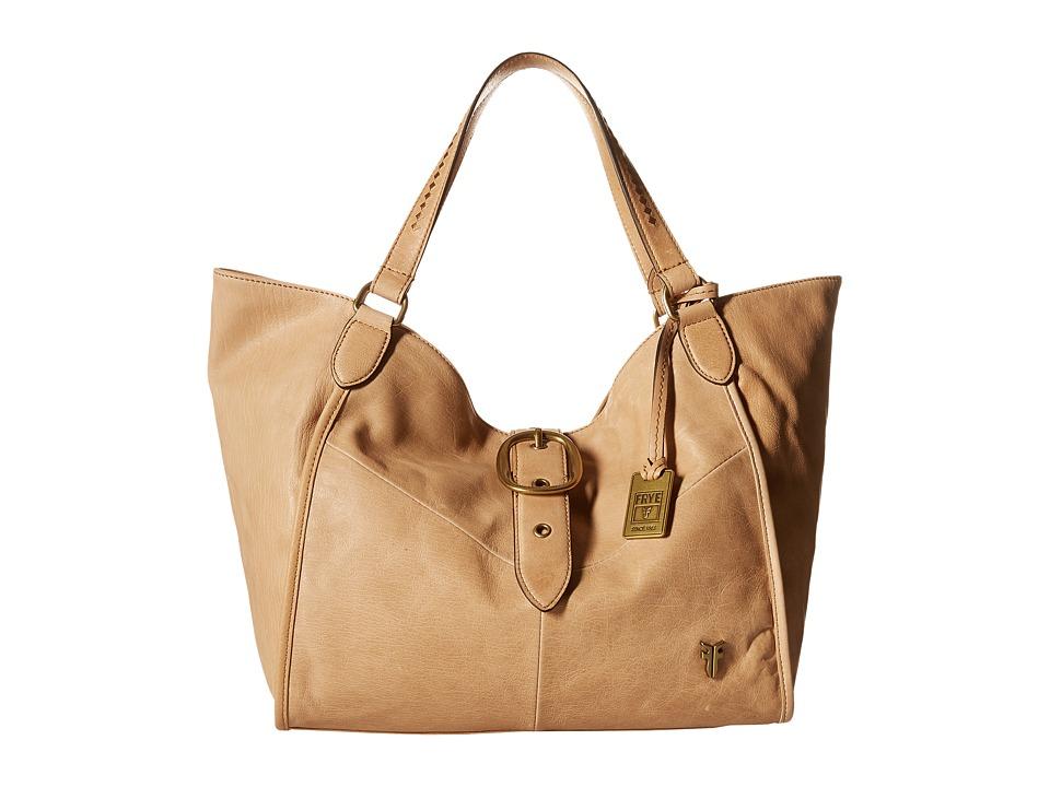 Frye - Belle Bohemian Satchel (Beige) Satchel Handbags