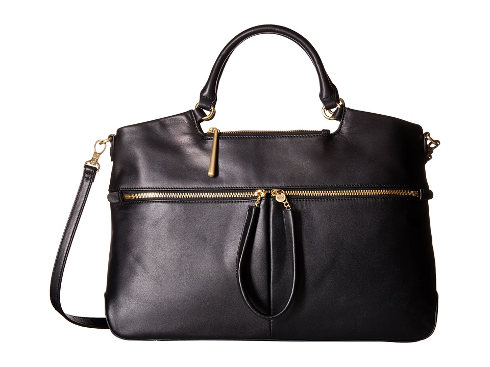 Hobo - City Light Tote (Black) Satchel Handbags