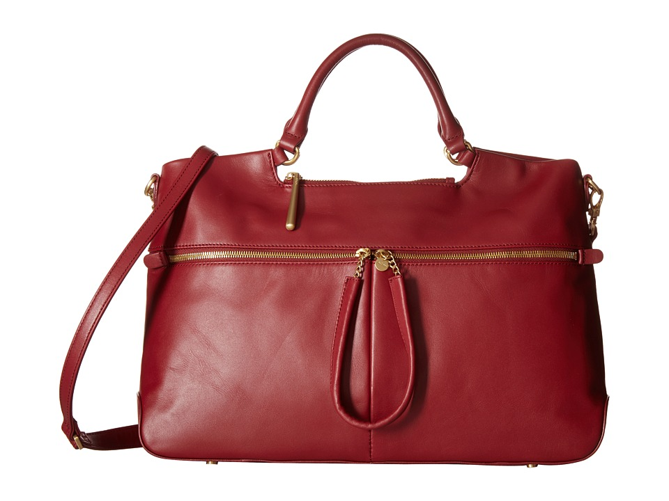 Hobo - City Light Tote (Wine) Satchel Handbags