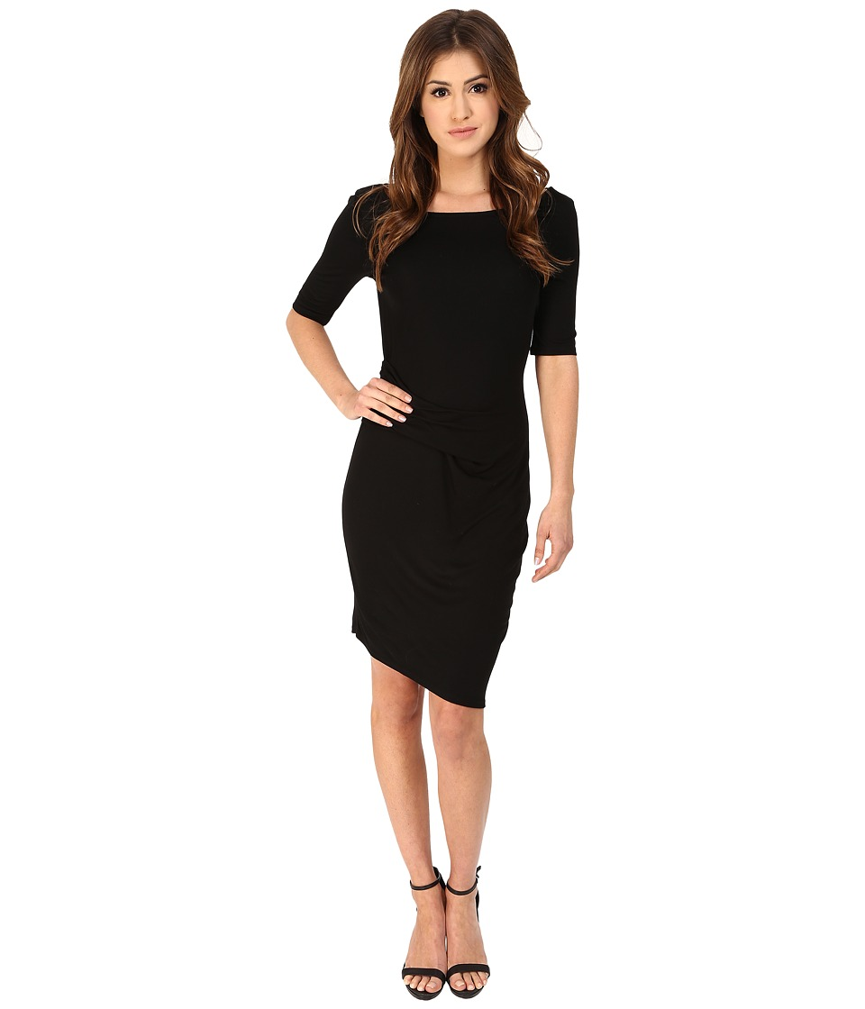 Three Dots Christina Dress (Black) Women