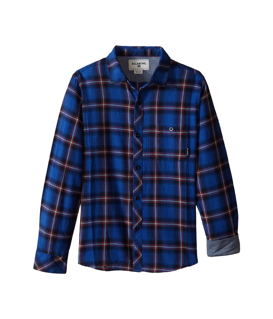 Billabong Kids - Freemont Long Sleeve Woven (Big Kids) (Blue) Boy's Long Sleeve Button Up