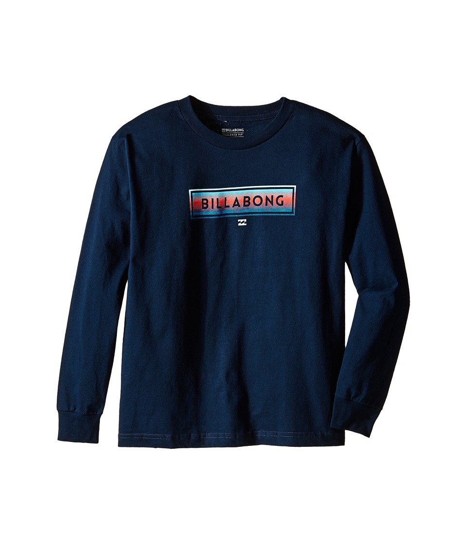 Billabong Kids - United Long Sleeve (Big Kids) (Navy) Boy