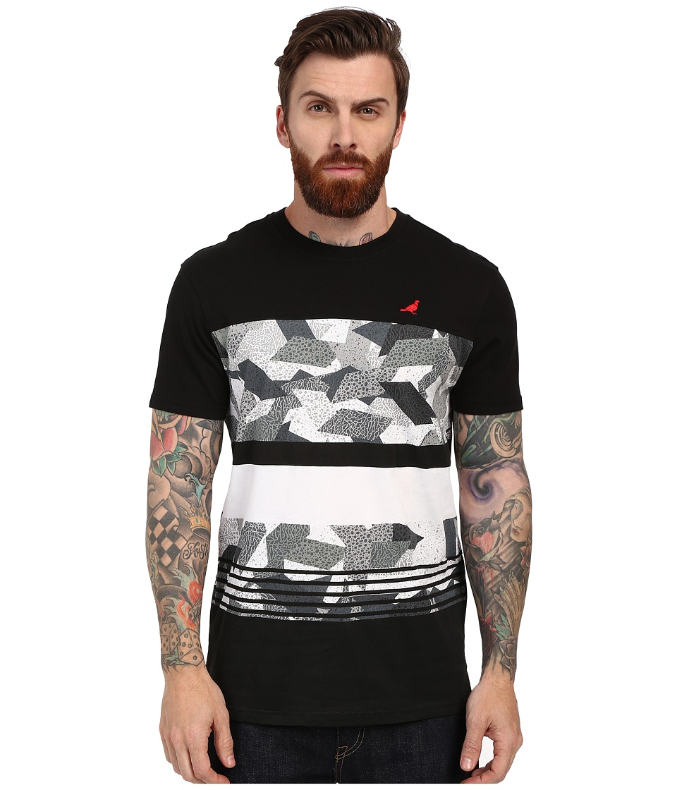 Staple - Geocamo Striped Tee (Heather Grey) Men's T Shirt