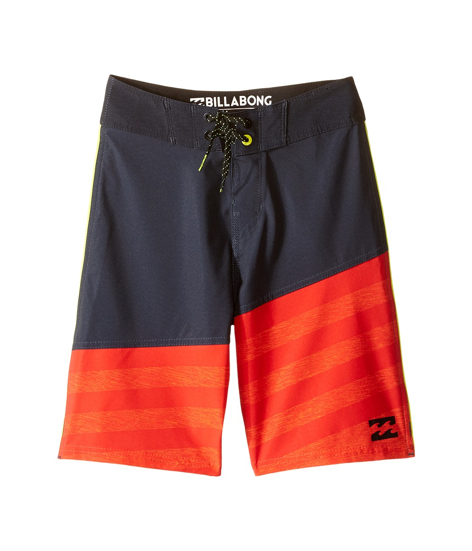 Billabong Kids - Slice A Frame X Boardshorts (Big Kids) (Orange) Boy's Swimwear