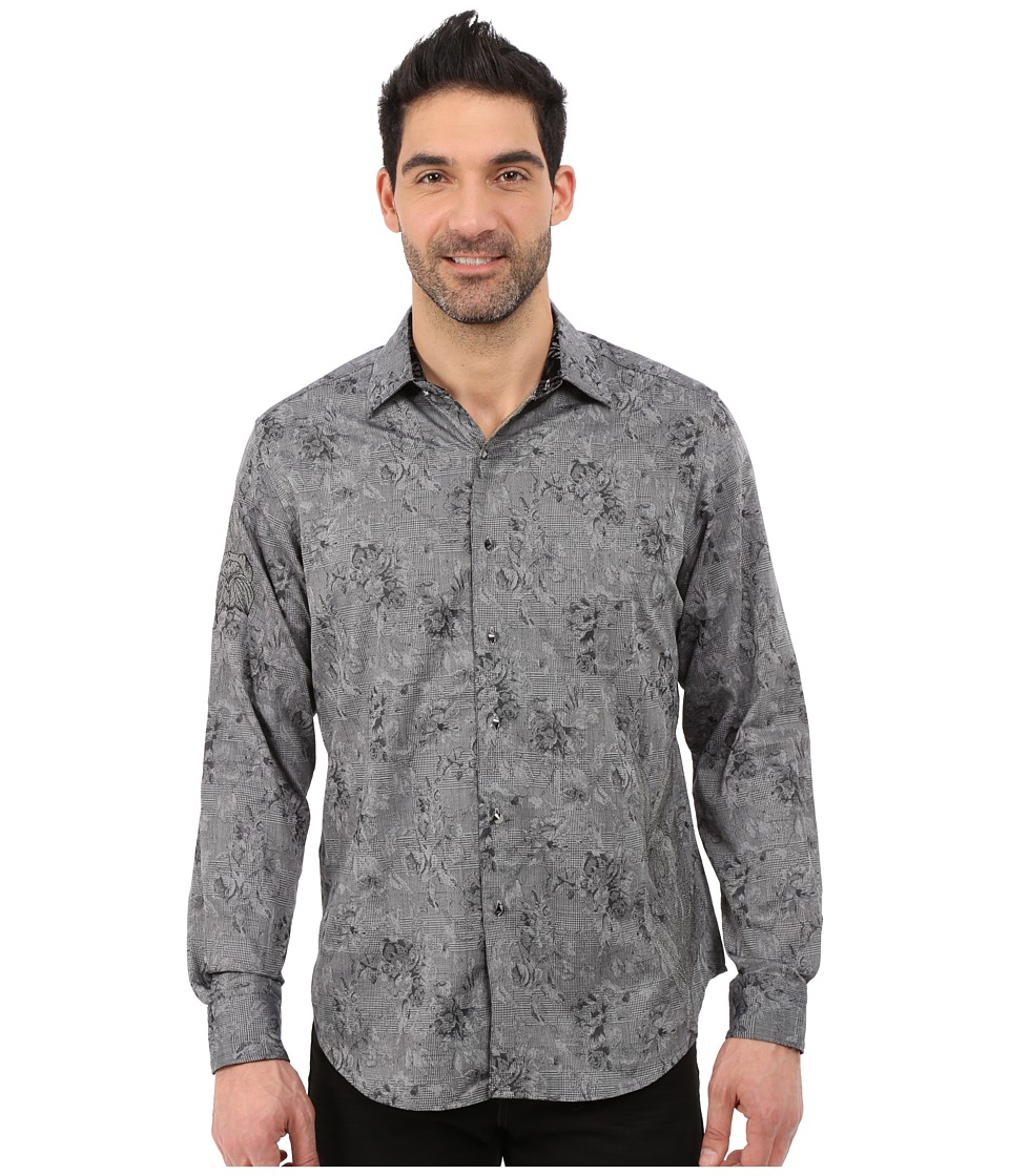 Robert Graham - Black Onyx Long Sleeve Limited Edition Woven (Grey) Men's Long Sleeve Button Up