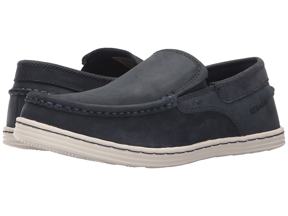 Sebago - Barnet Slip-On (Navy Waxy Leather) Men's Slip on Shoes