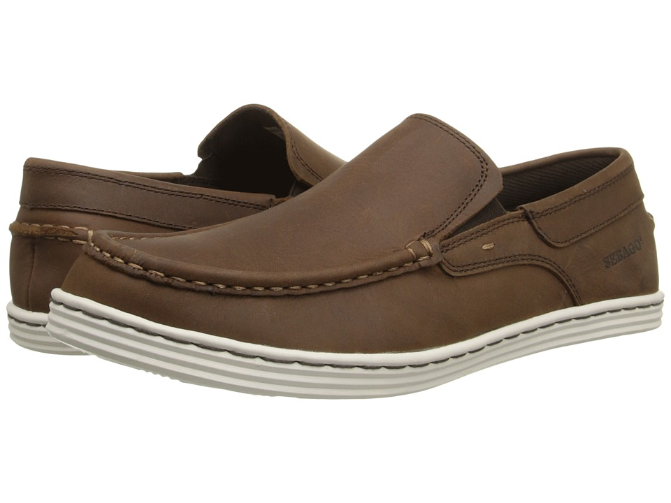 Sebago - Barnet Slip-On (Dark Brown Waxy Leather) Men's Slip on Shoes