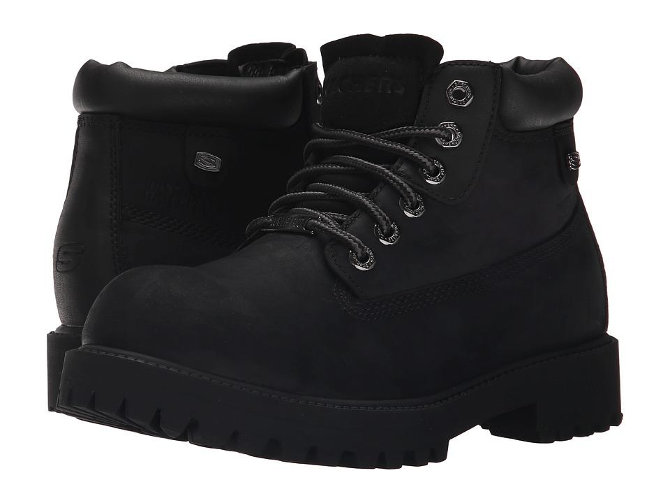 SKECHERS - Sergeants Verdict (Black) Men's Lace-up Boots