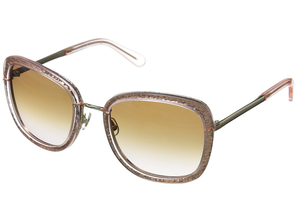 Kate Spade New York - Scottie (Transparent Pink/Brown Pink Gradient) Fashion Sunglasses