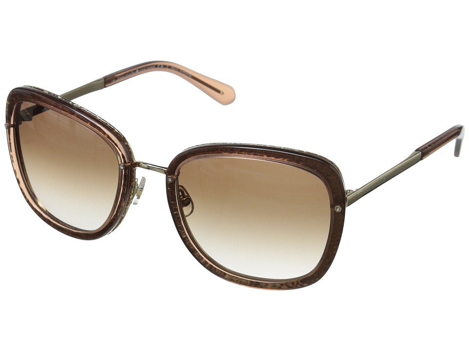 Kate Spade New York - Scottie (Transparent Brown/Warm Brown Gradient) Fashion Sunglasses