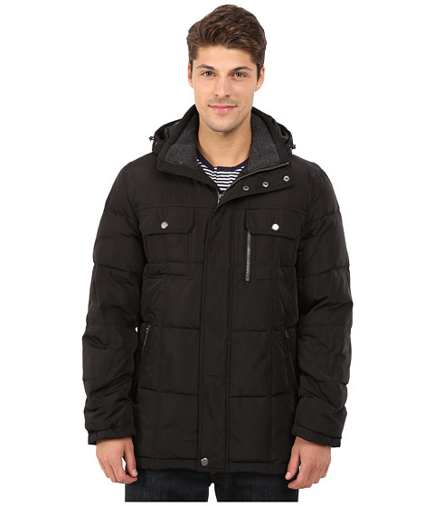 London Fog - Samuel Hooded Parka (Black) Men's Coat