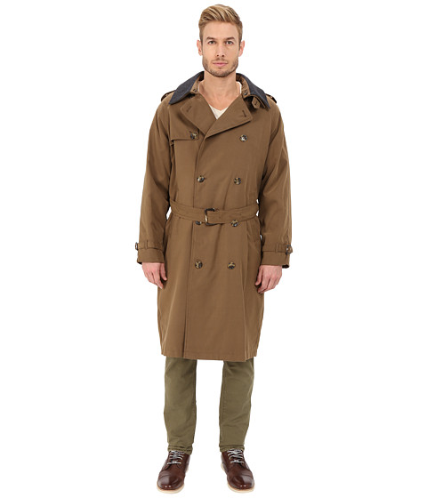 London Fog - Chad Belted Trench Coat (British Khaki) Men