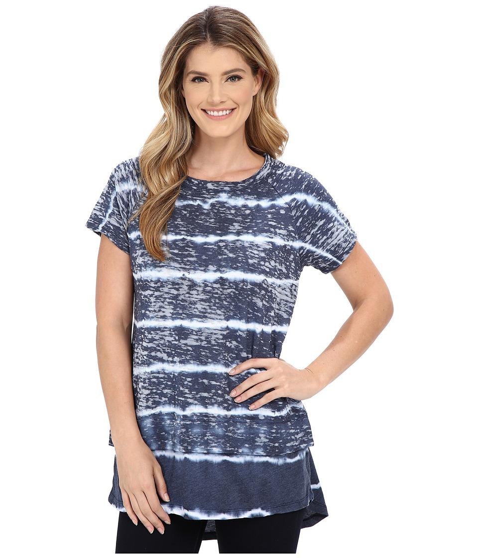 Allen Allen - Tie-Dye Tee (Lapis) Women's Short Sleeve Pullover