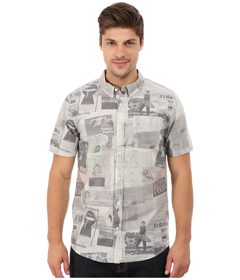 O'Neill - Archive Wovens (Stone) Men's Short Sleeve Button Up