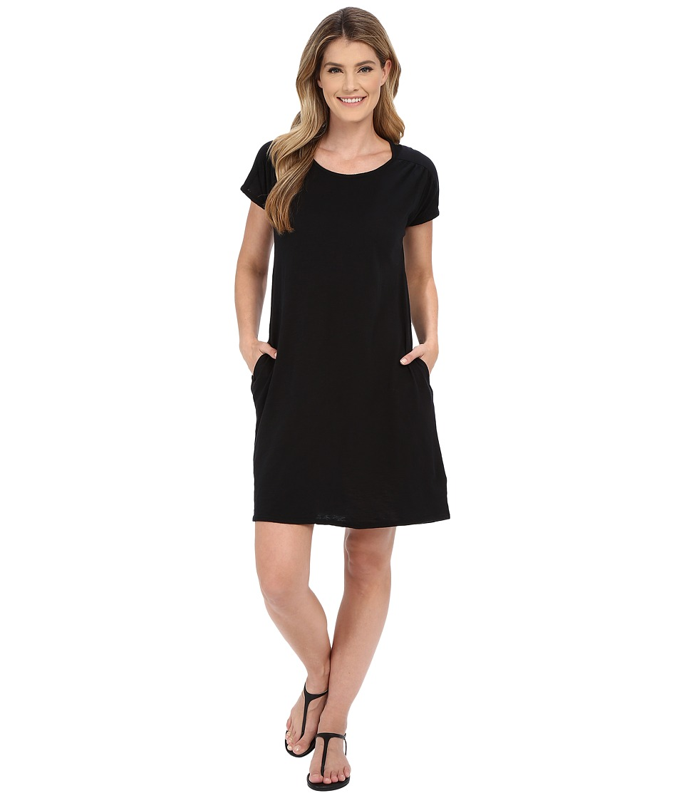 Allen Allen Short Sleeve Two-Pocket Dress (Black) Women