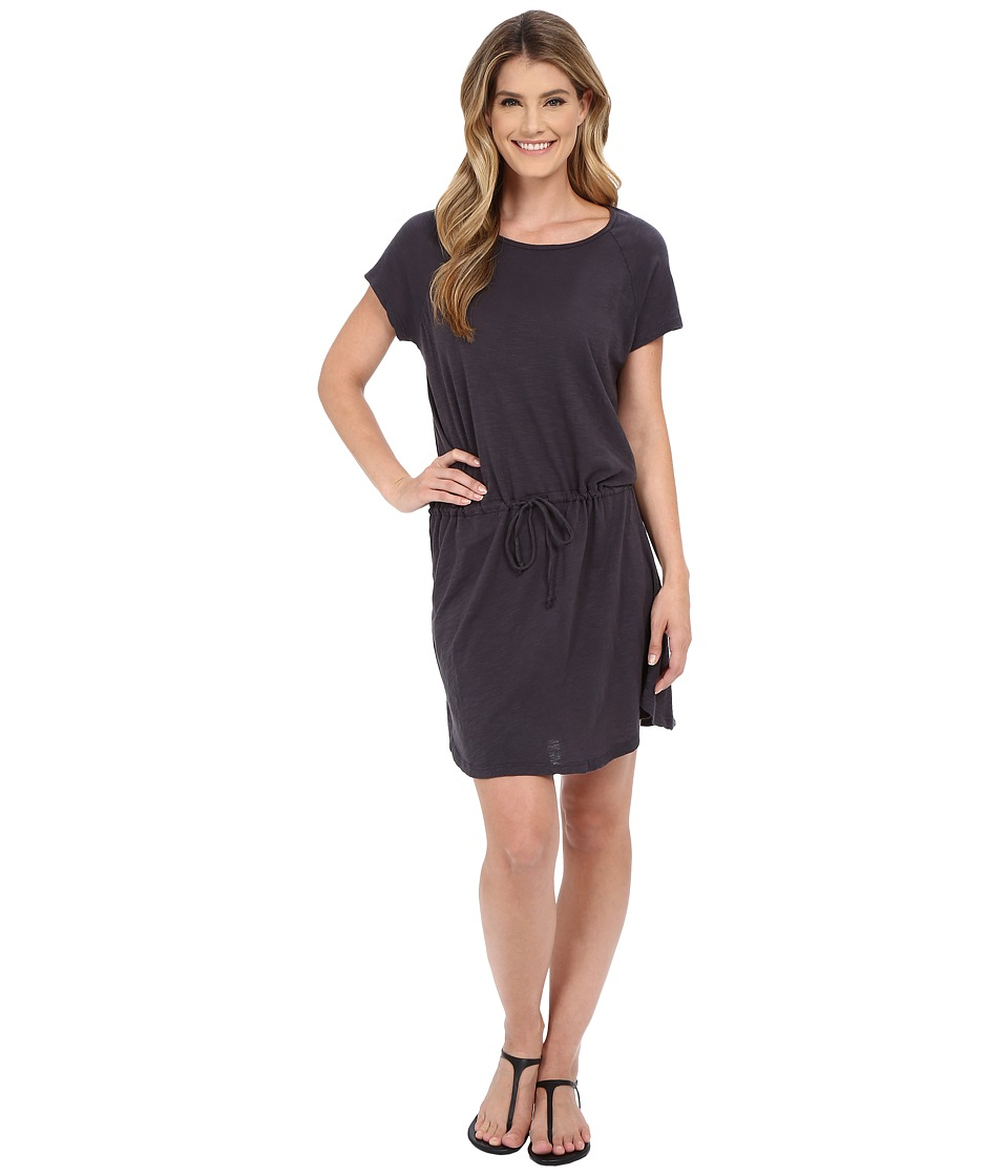 Allen Allen - S/S Raglan Dress (Jet Grey) Women's Dress