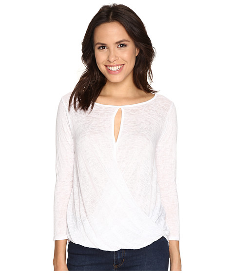 Velvet by Graham & Spencer - Carthy03 Textured Knit Top (White) Women's Clothing