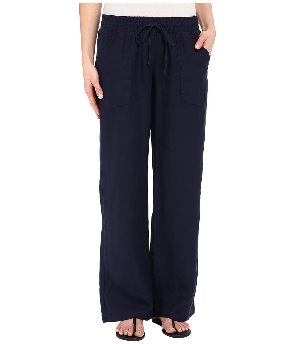 Allen Allen - Linen Long Cargo Pants (Lapis) Women's Casual Pants