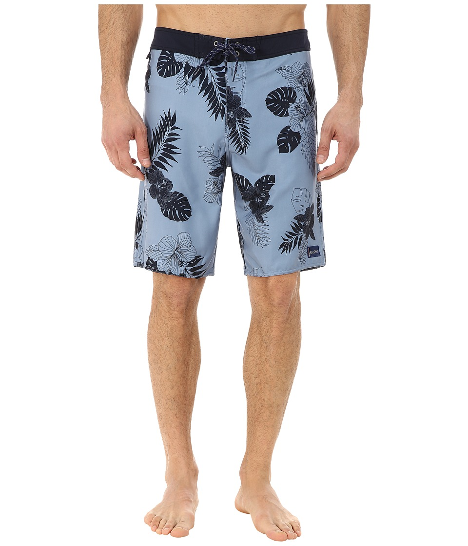 O'Neill - Burma Printed Boardshorts (Dark Blue) Men's Swimwear