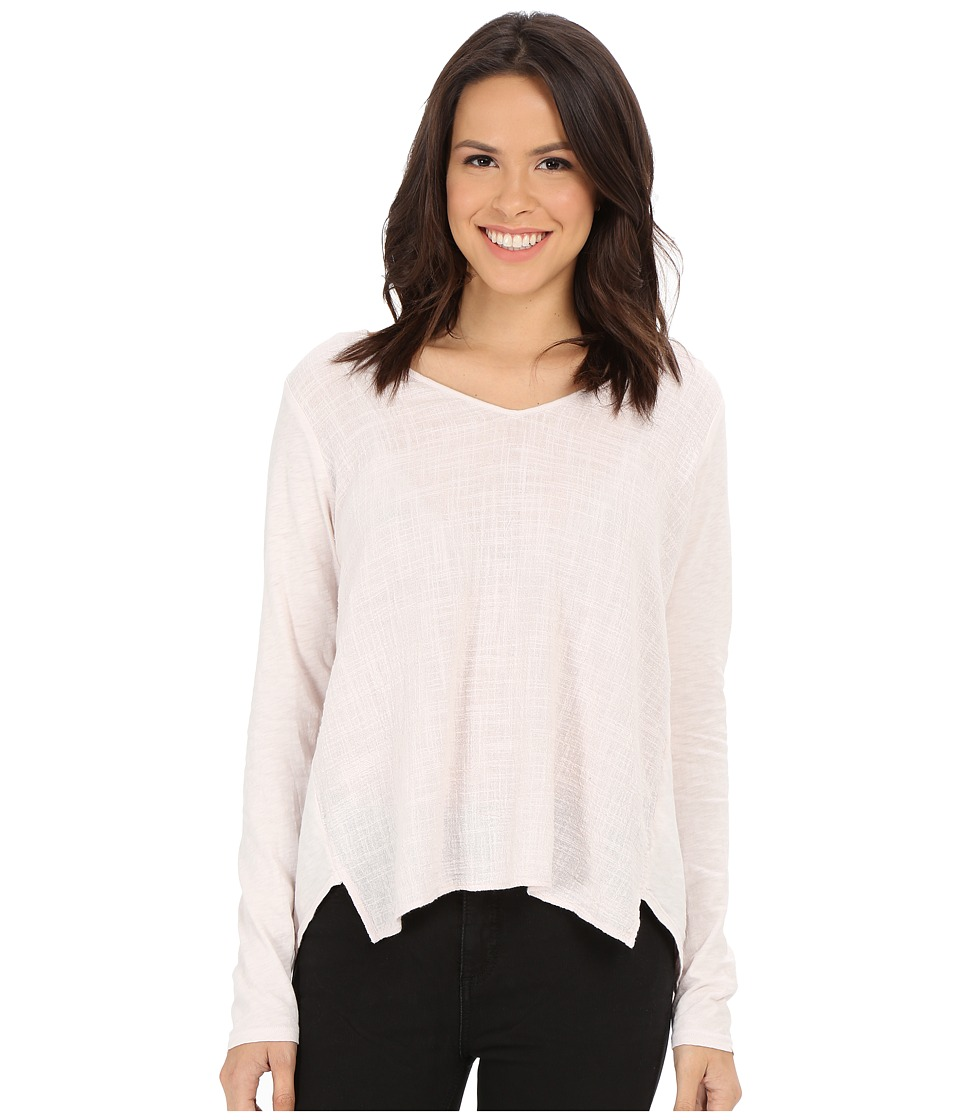 Velvet by Graham & Spencer - Chanel03 Cotton Slub with Texture Long Sleeve Tee (Blushpink) Women