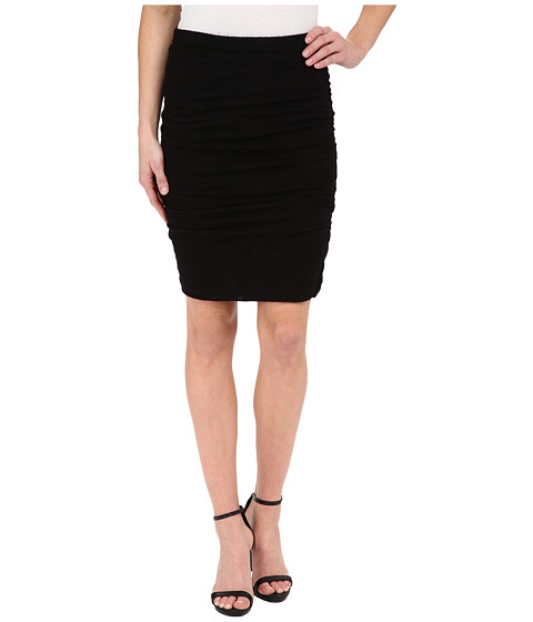 Velvet by Graham & Spencer - Cotton Textured Knit Skirt (Black) Women