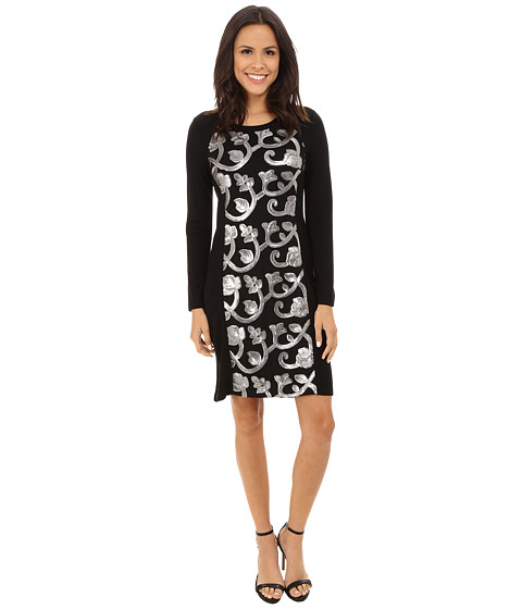 Karen Kane - Sequin Front Dress (Black) Women