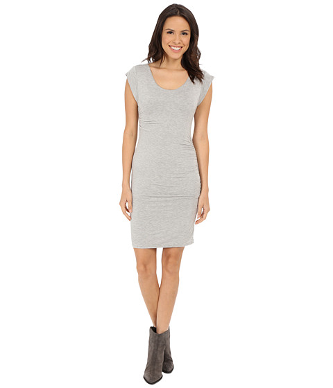 Velvet by Graham & Spencer - Elmina03 Modal Knit Dress (Heather Grey) Women
