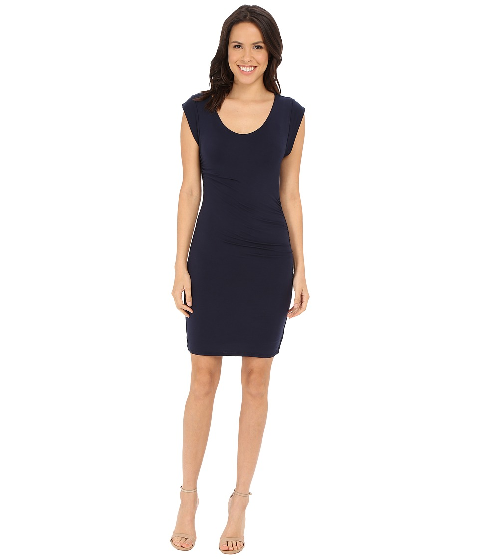 Velvet by Graham & Spencer - Elmina03 Modal Knit Dress (Navy) Women's Dress