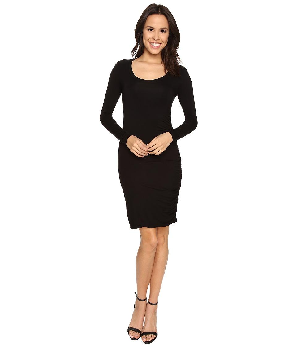 Velvet by Graham & Spencer - Freeda03 Modal Knit Long Sleeve Dress (Black) Women's Dress