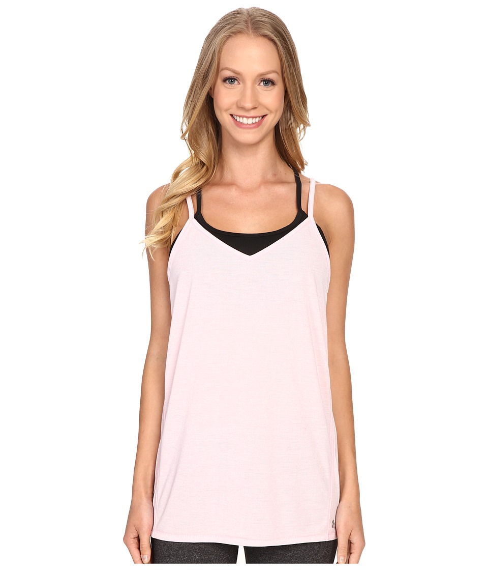 Under Armour - Strappy Linen Tank Top (Petal Pink) Women's Sleeveless