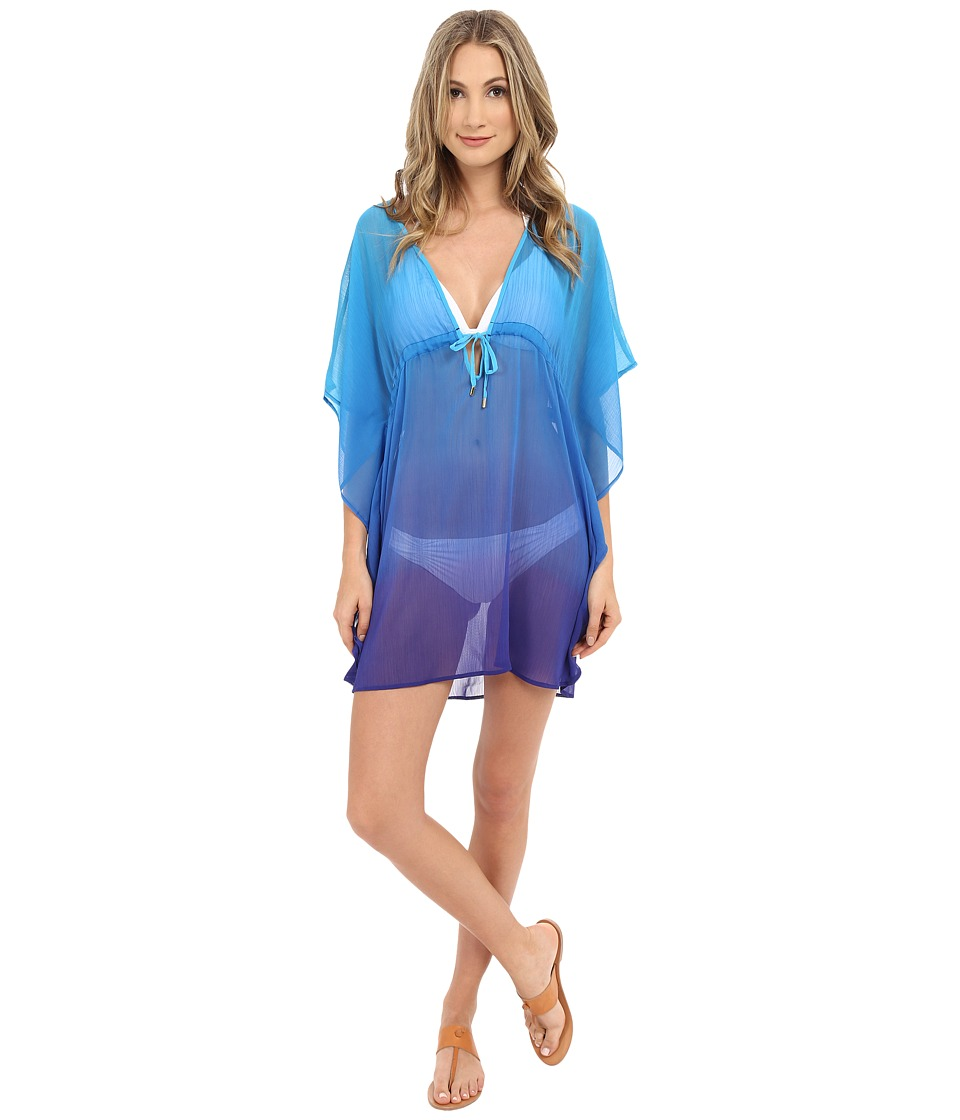 Bleu Rod Beattie - Some Like It Hot Short Caftan Cover-Up (Aqua) Women's Swimwear