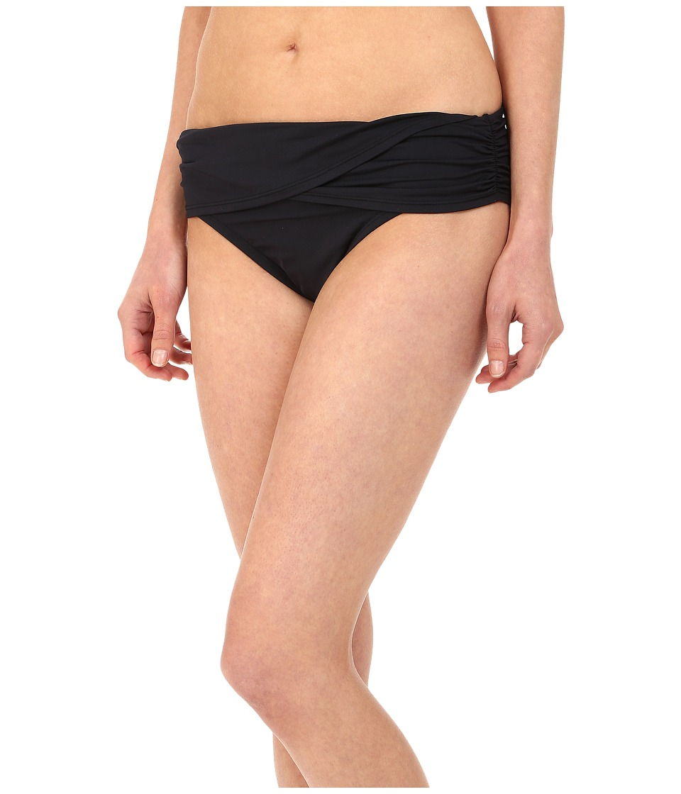 Bleu Rod Beattie - Gilt Trip Sarong Hipster Bottom (Black) Women's Swimwear