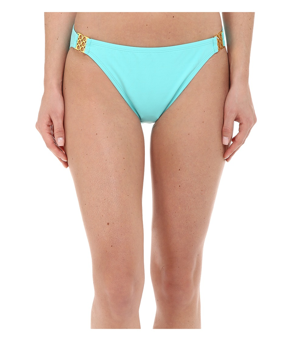 Bleu Rod Beattie - Gilt Trip Hipster w/ Gold Trim Bottom (Pool) Women's Swimwear