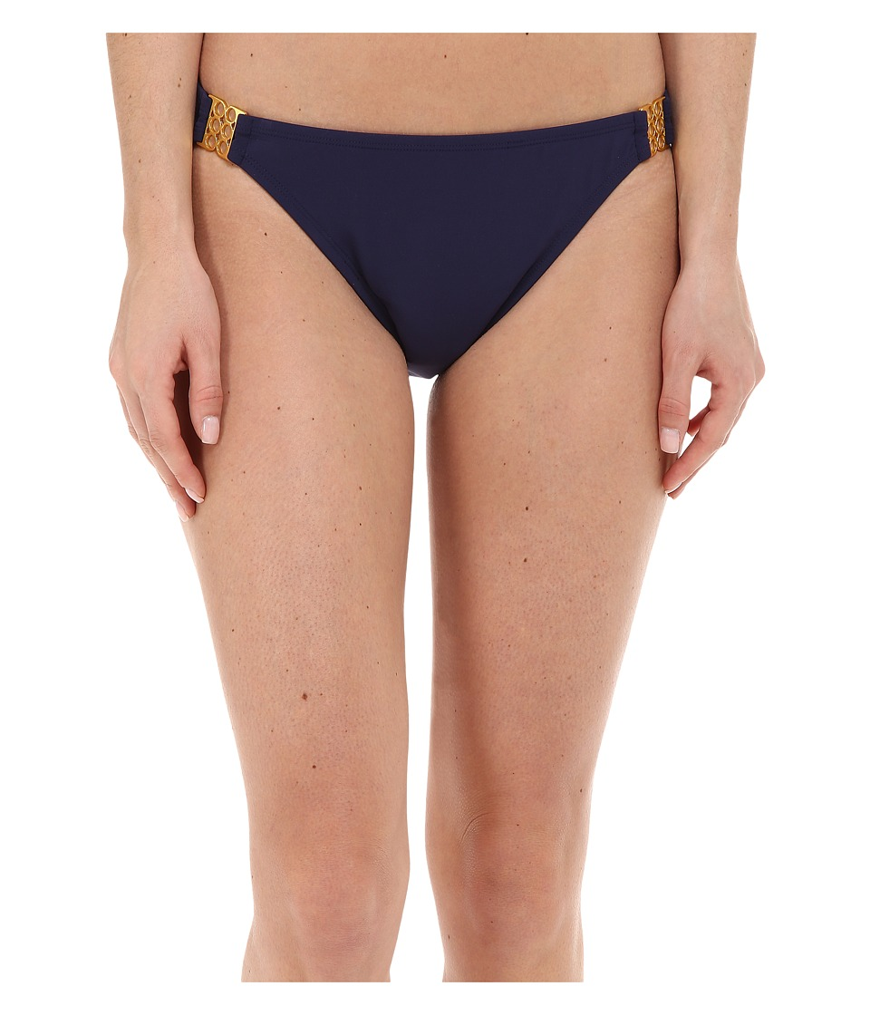Bleu Rod Beattie - Gilt Trip Hipster w/ Gold Trim Bottom (Marine) Women's Swimwear