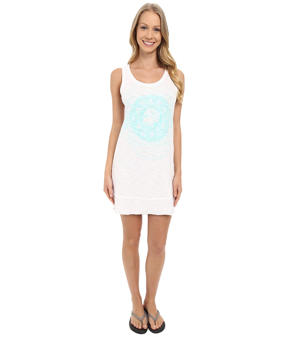 Life is good - High-Low Floral Medallion Elliptical Tank Dress (Cloud White) Women's Dress