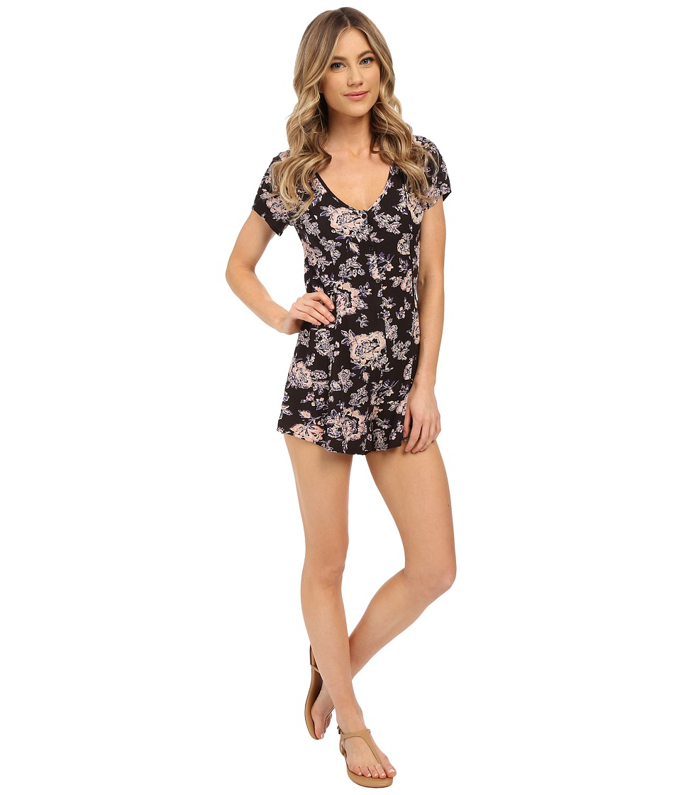 Billabong - Festival Frenzy Romper (Off-Black) Women's Jumpsuit & Rompers One Piece