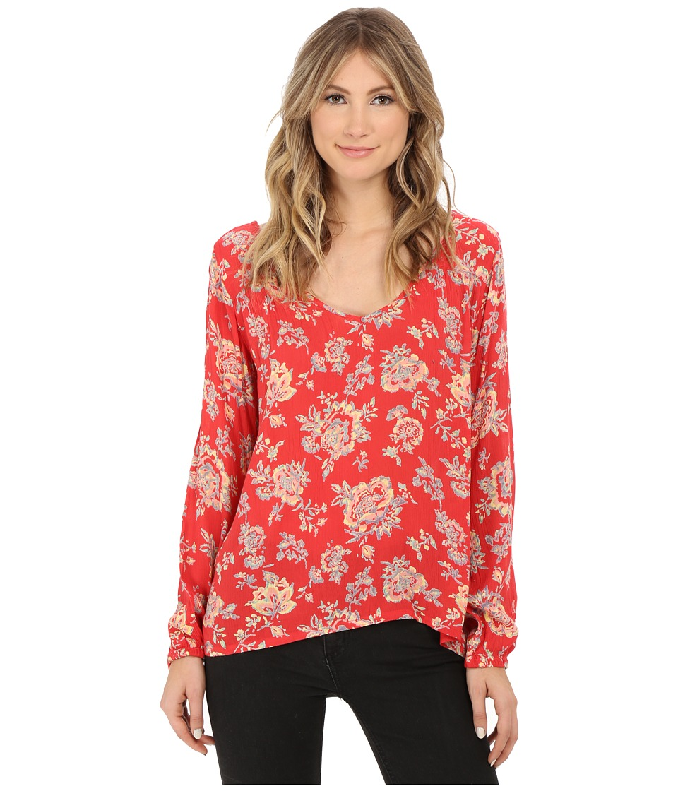 Billabong - Distant Roads Top (Hibiscus) Women's Blouse