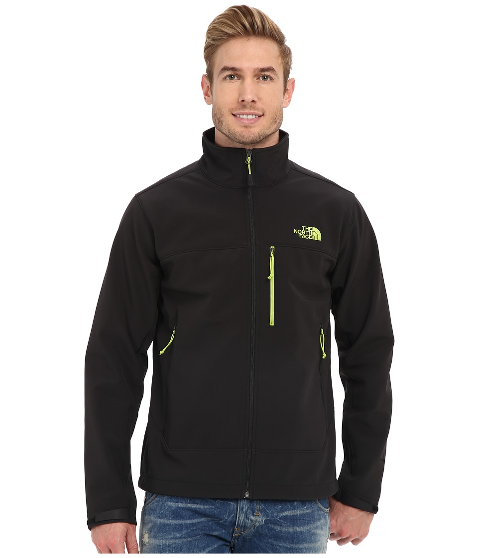 The North Face - Apex Bionic Jacket (TNF Black/TNF Black/Macaw Green) Men's Coat