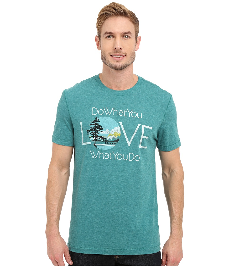 Life is good - Do What You Love Love What You Do Cool Tee (Beachy Teal) Men's T Shirt