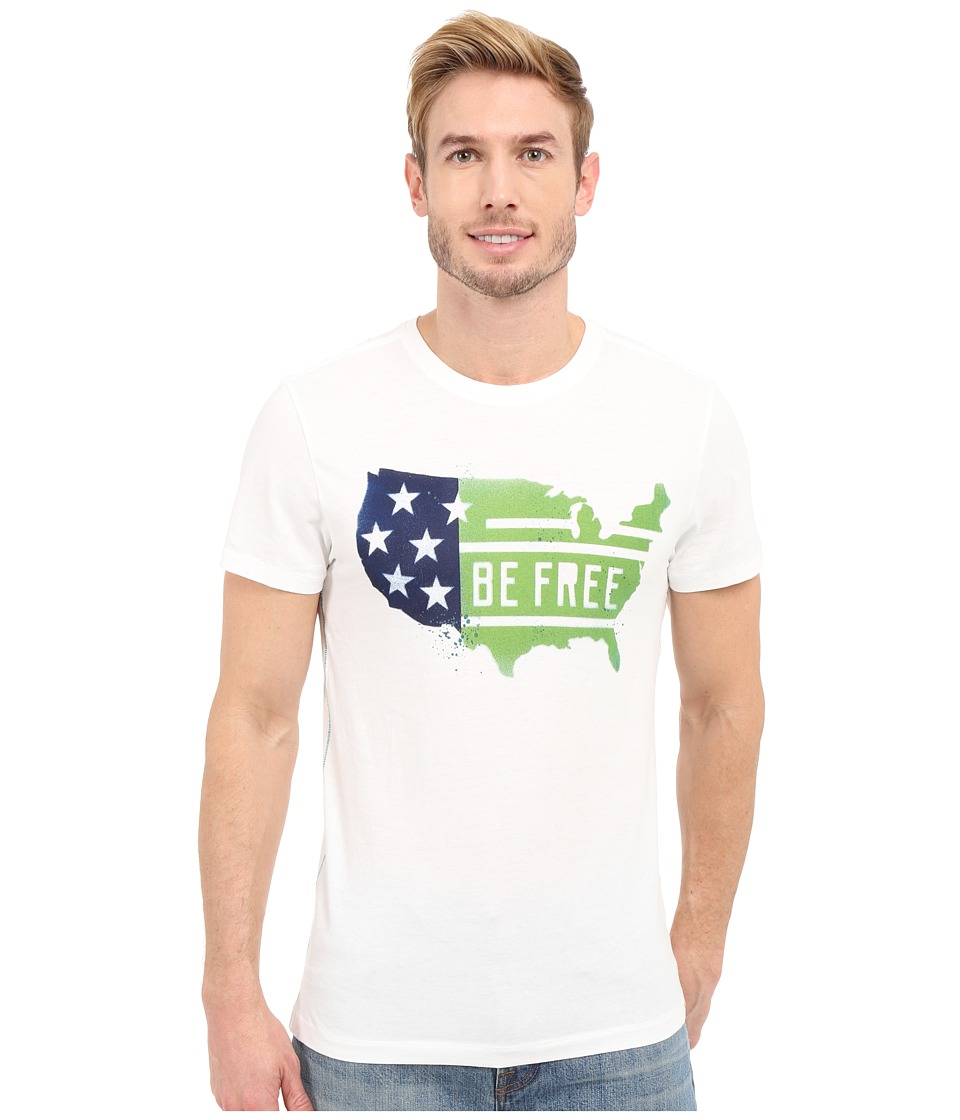 Life is good - Be Free USA Country Newbury Tee (Cloud White) Men's T Shirt