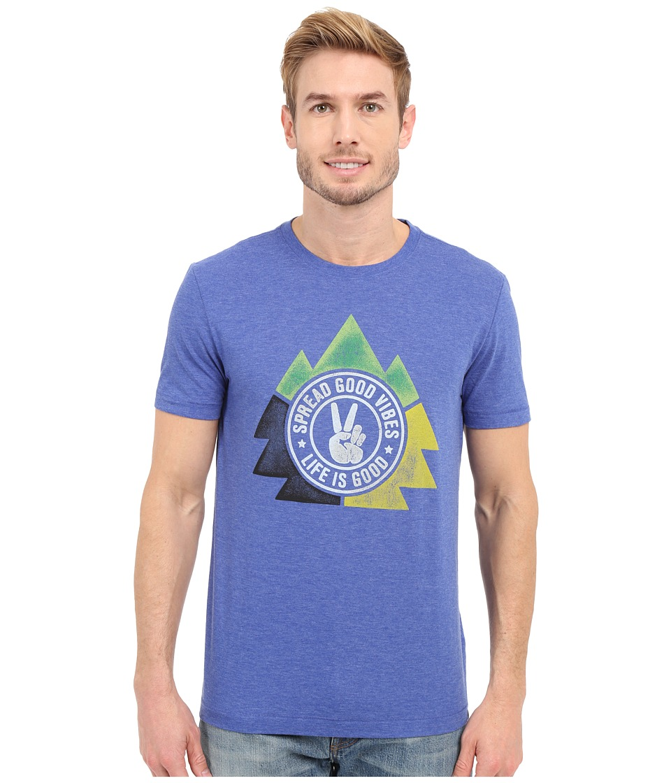 Life is good - Life Is Good Spread Good Vibes Triangle Cool Tee (Cobalt Blue) Men's T Shirt