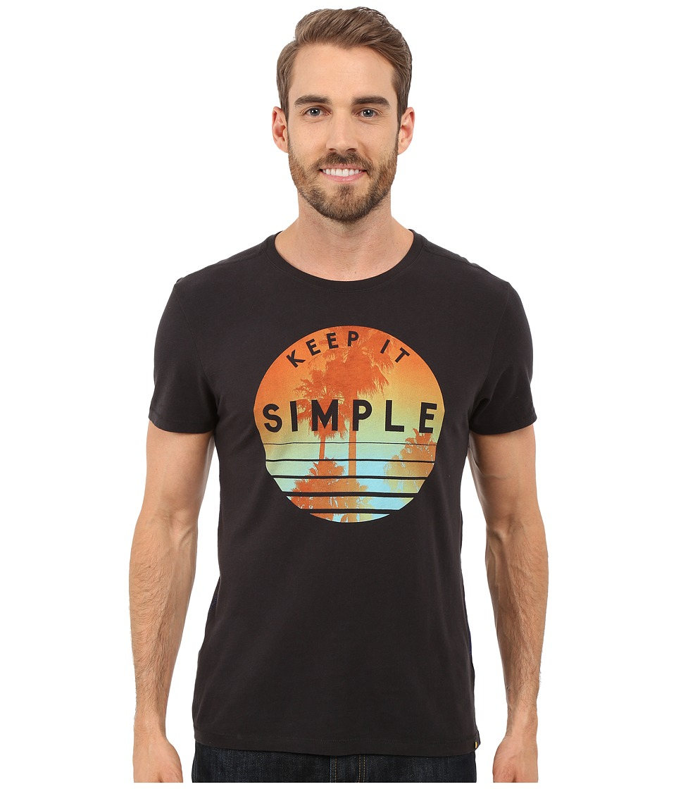 Life is good - Keep It Simple Palms Circle Newbury Tee (Night Black) Men's T Shirt