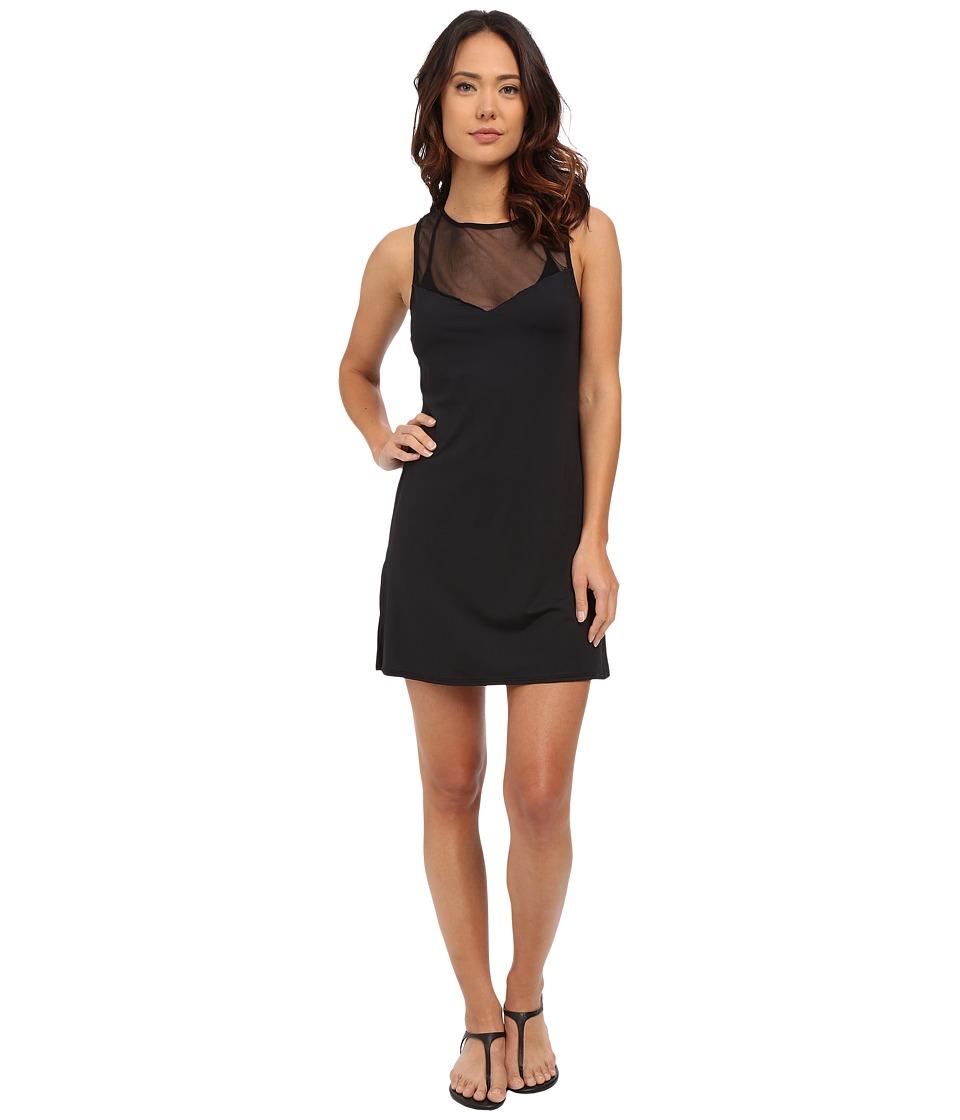 Vince Camuto - Luxe Mesh T-Shirt Mesh Dress Cover-Up (Black) Women's Swimwear
