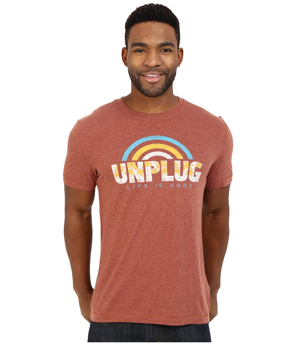 Life is good - Unplug Rainbow Cool Tee (Rusty Copper) Men's T Shirt