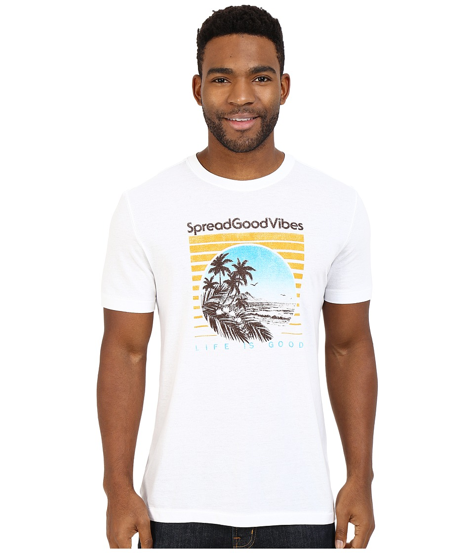Life is good - Good Vibes Beach Scene Cool Tee (Cloud White) Men's T Shirt