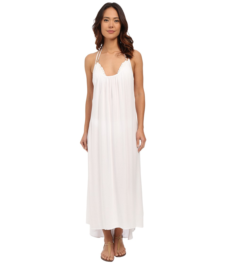 Vince Camuto - Polish Racerback Maxi Dress Cover-Up (White) Women's Swimwear
