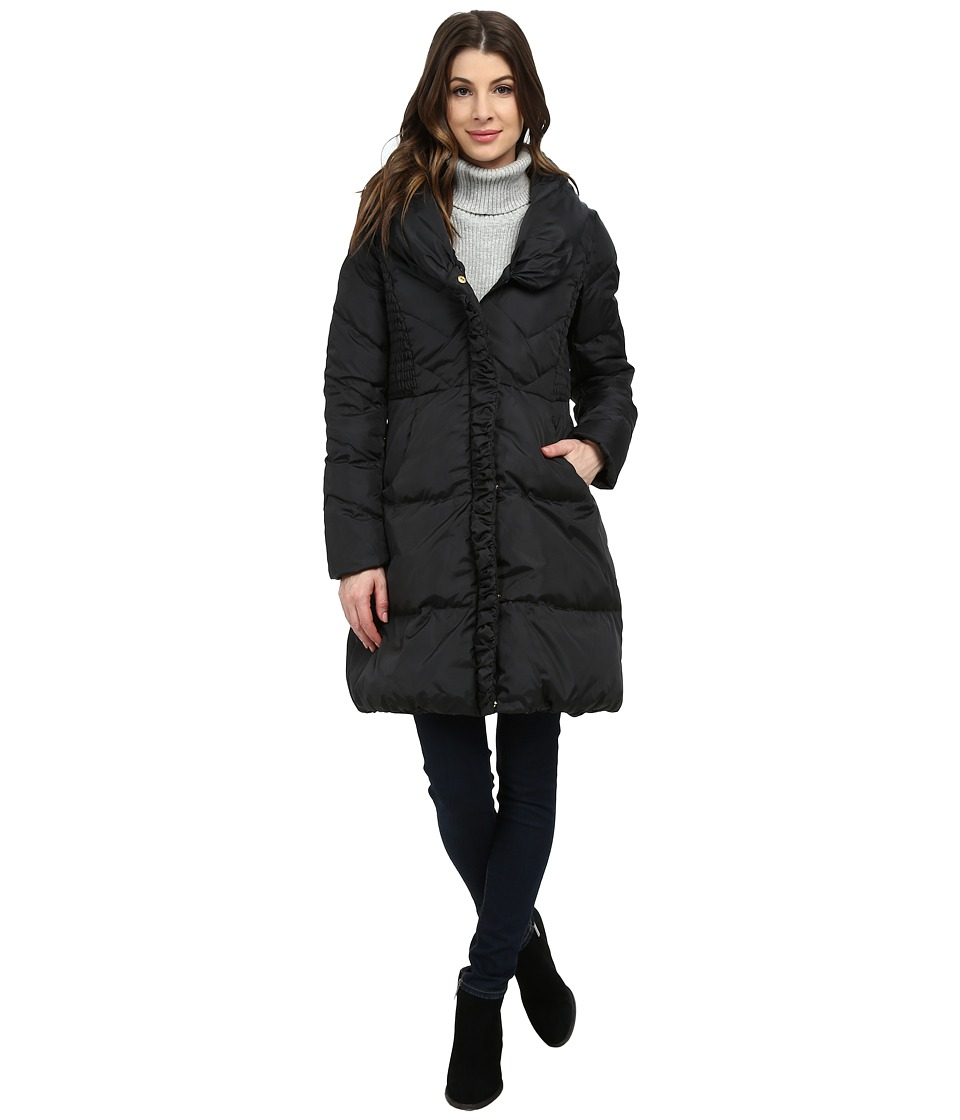 Via Spiga - Pillow Collar Down (Black) Women's Coat
